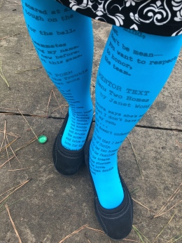 Blue poetry tights photo copy