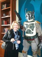 With Boba Fett at the Lucasfilm offices